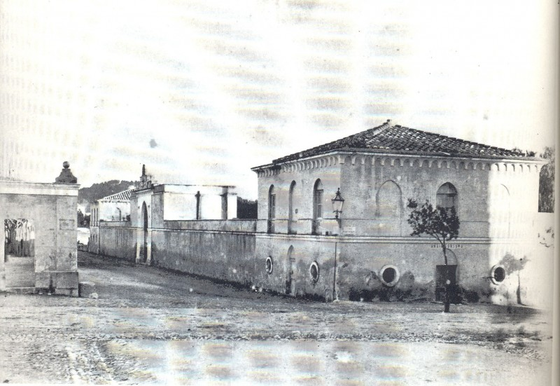 Oude foto van slachthuis